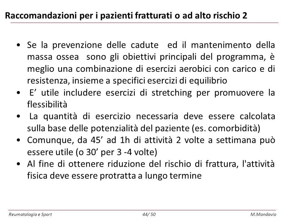 Raccomandazioni per i pazienti fratturati o ad alto rischio 2