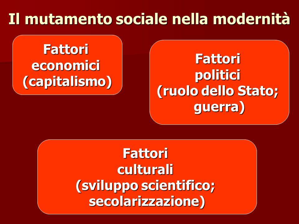 Il mutamento sociale nella modernità