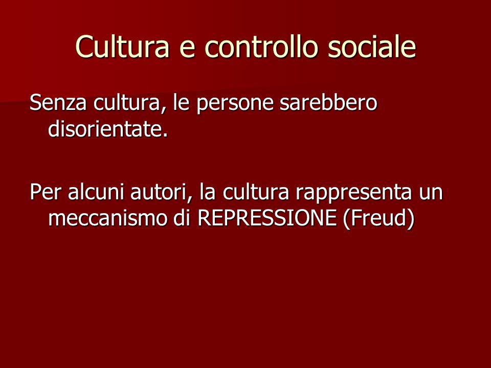 Cultura e controllo sociale