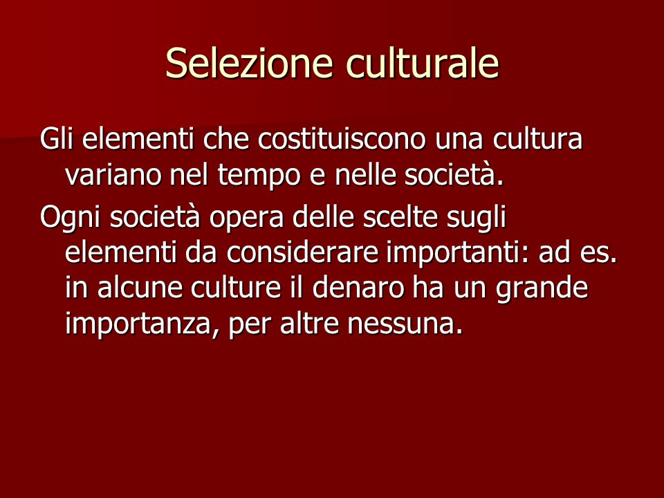 Selezione culturale