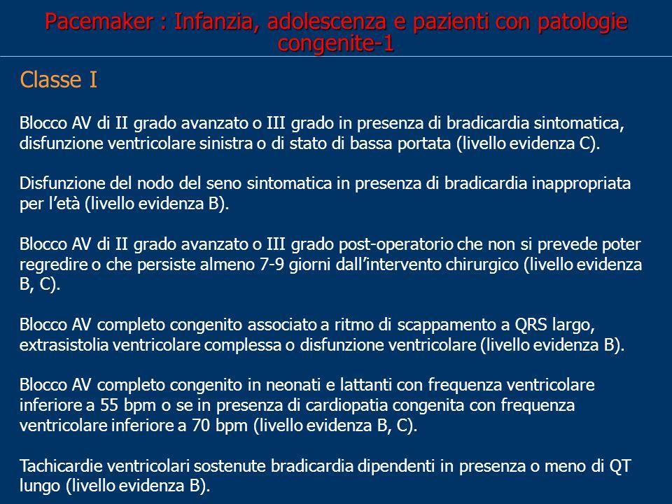 Pacemaker : Infanzia, adolescenza e pazienti con patologie congenite-1