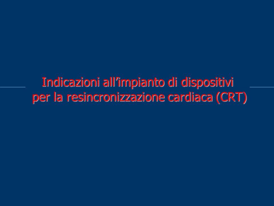 Indicazioni all'impianto di dispositivi per la resincronizzazione cardiaca (CRT)