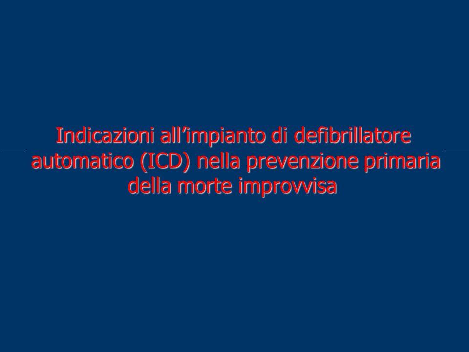 Indicazioni all'impianto di defibrillatore automatico (ICD) nella prevenzione primaria della morte improvvisa