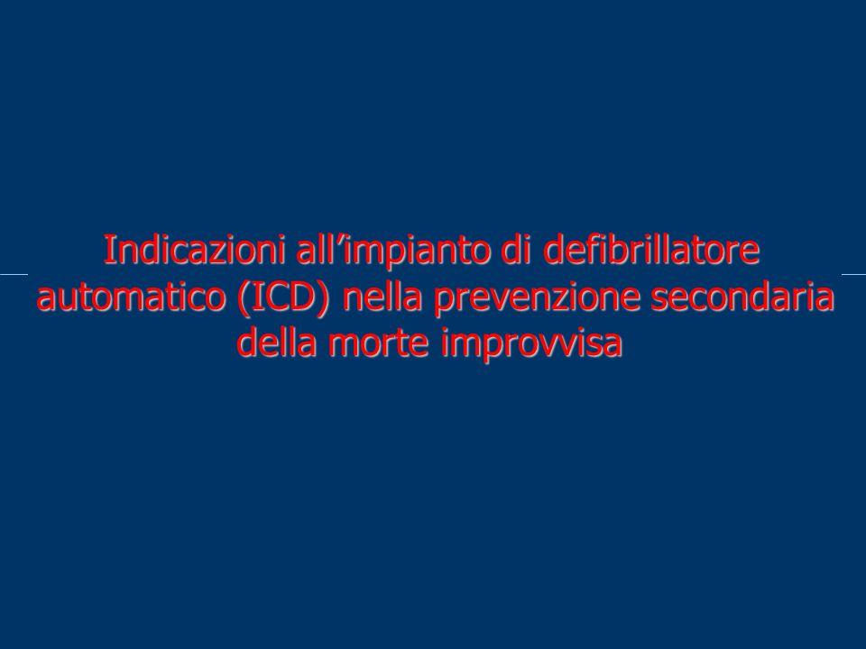 Indicazioni all'impianto di defibrillatore automatico (ICD) nella prevenzione secondaria della morte improvvisa