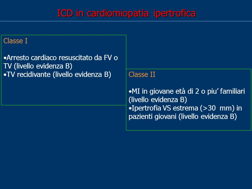 ICD in cardiomiopatia ipertrofica