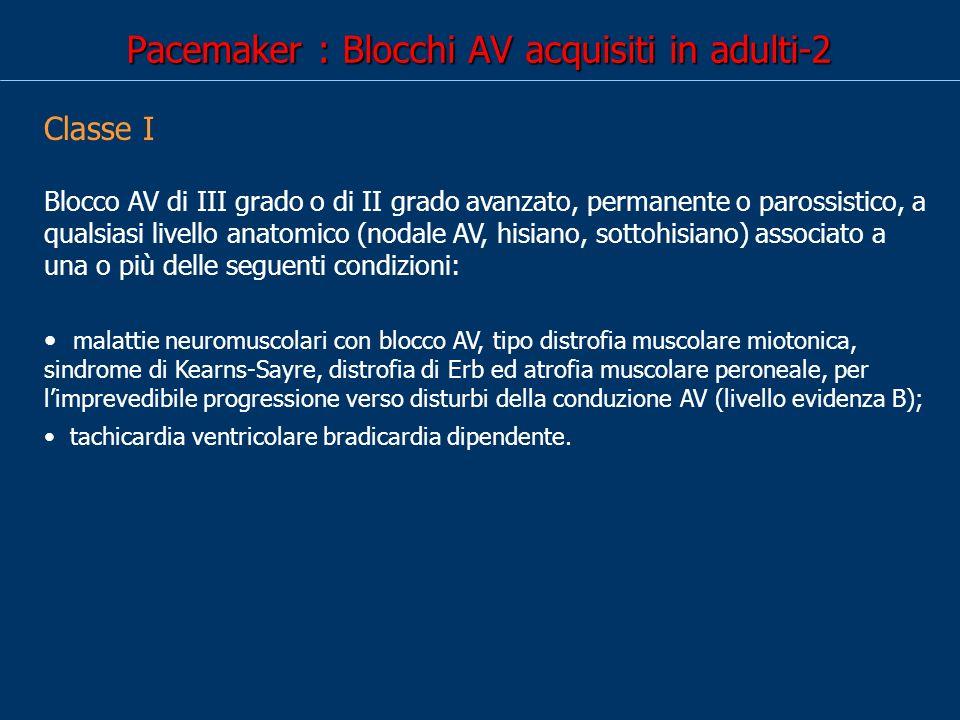Pacemaker : Blocchi AV acquisiti in adulti-2