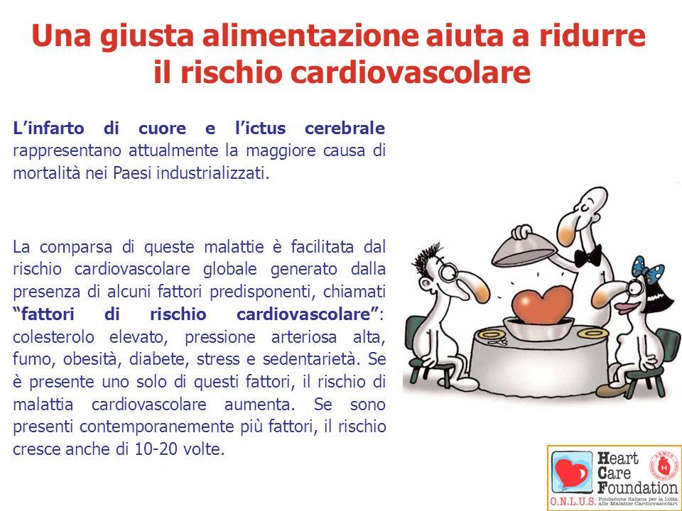 Una giusta alimentazione aiuta a ridurre il rischio cardiovascolare
