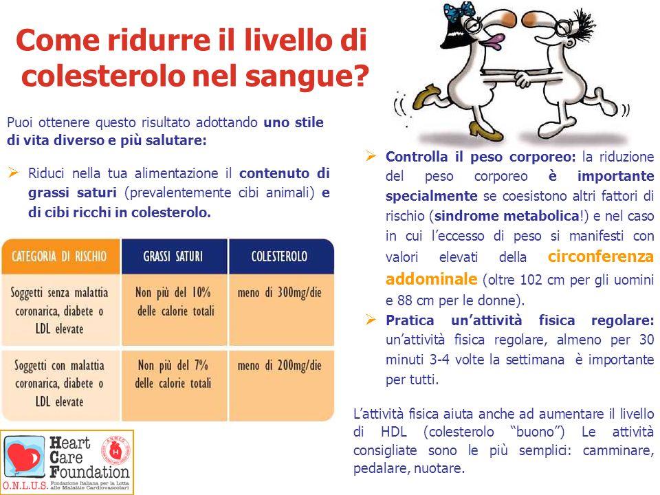 Come ridurre il livello di colesterolo nel sangue