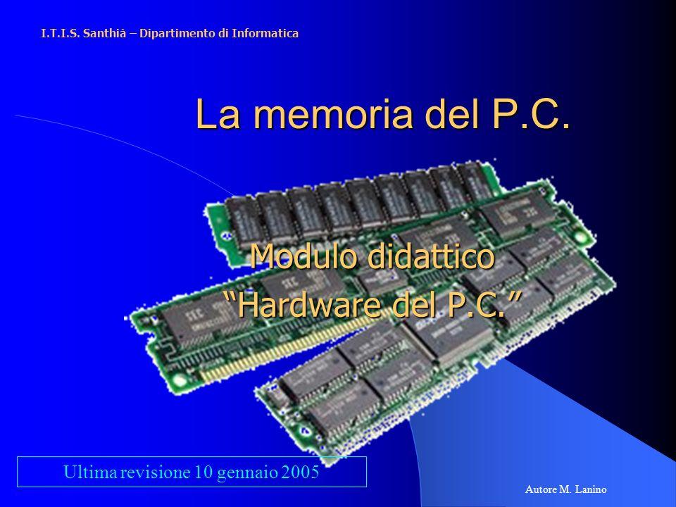 Modulo didattico Hardware del P.C.