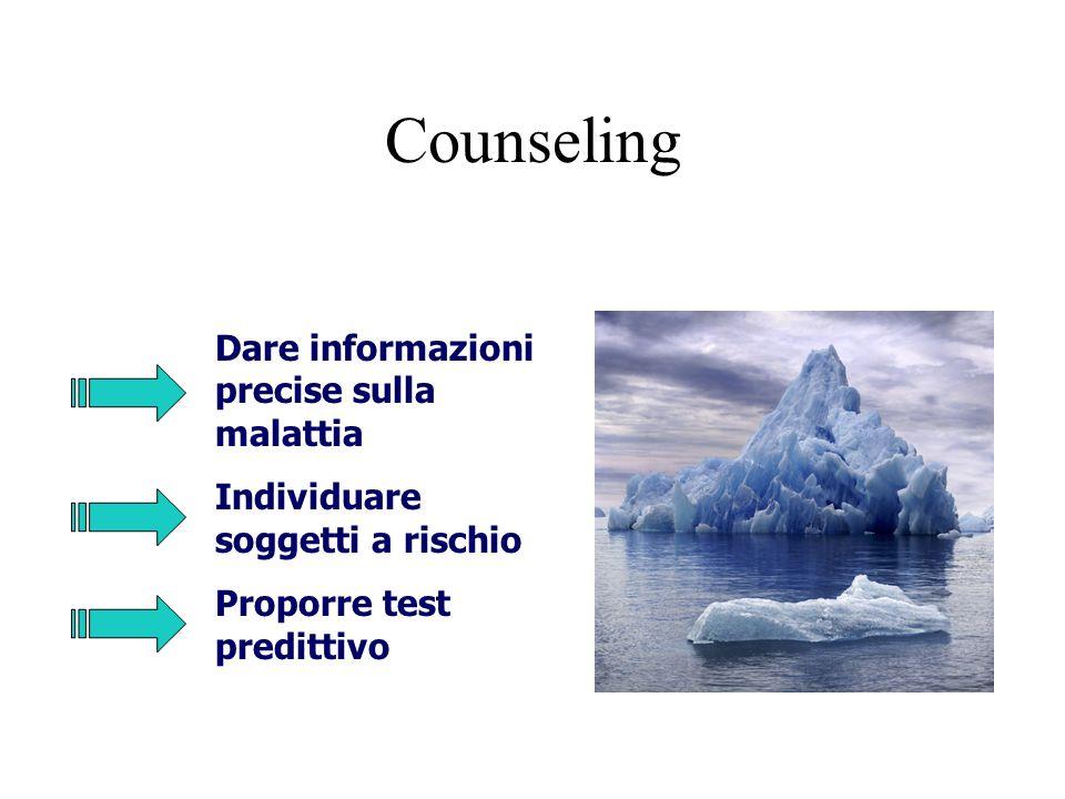 Counseling Dare informazioni precise sulla malattia
