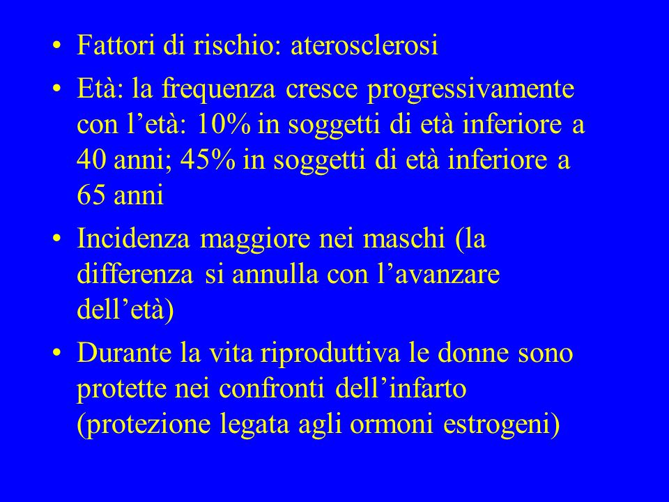 Fattori di rischio: aterosclerosi