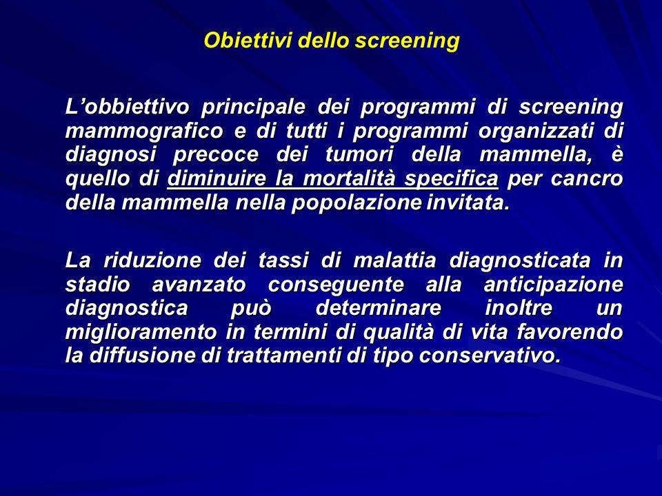 Obiettivi dello screening