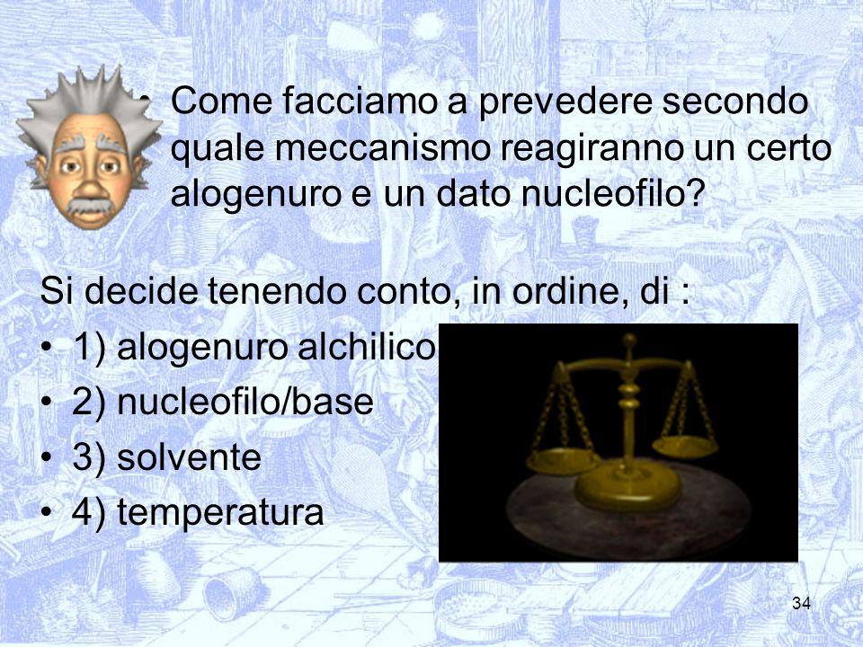 Come facciamo a prevedere secondo quale meccanismo reagiranno un certo alogenuro e un dato nucleofilo