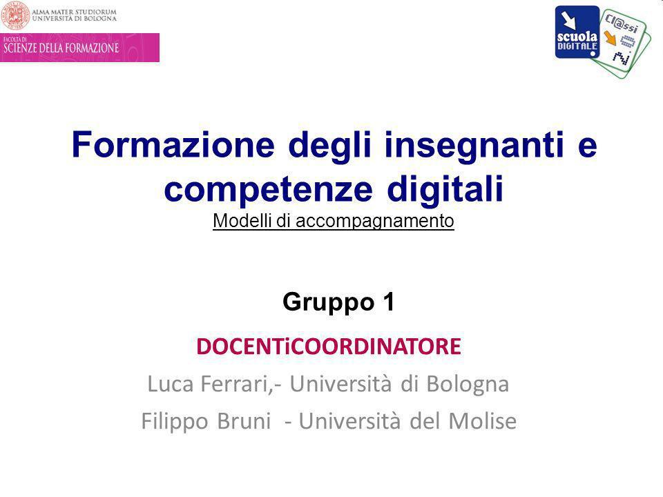 Formazione degli insegnanti e competenze digitali Modelli di accompagnamento