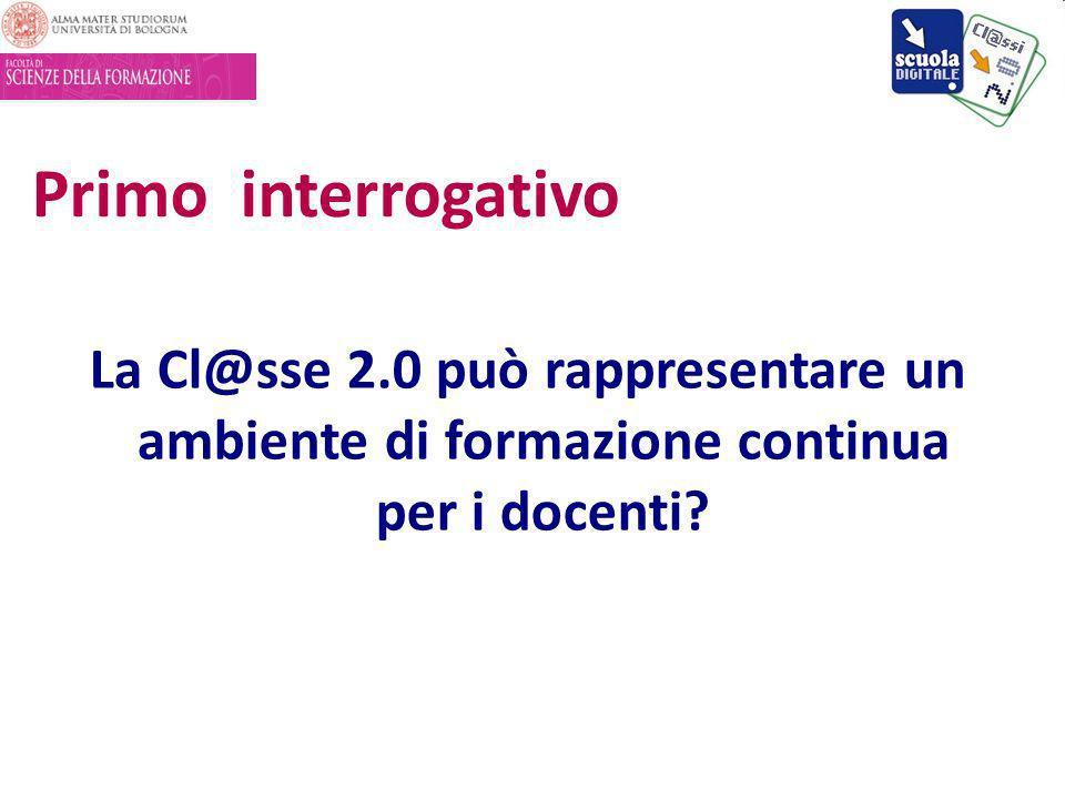 La Cl@sse 2.0 può rappresentare un ambiente di formazione continua per i docenti