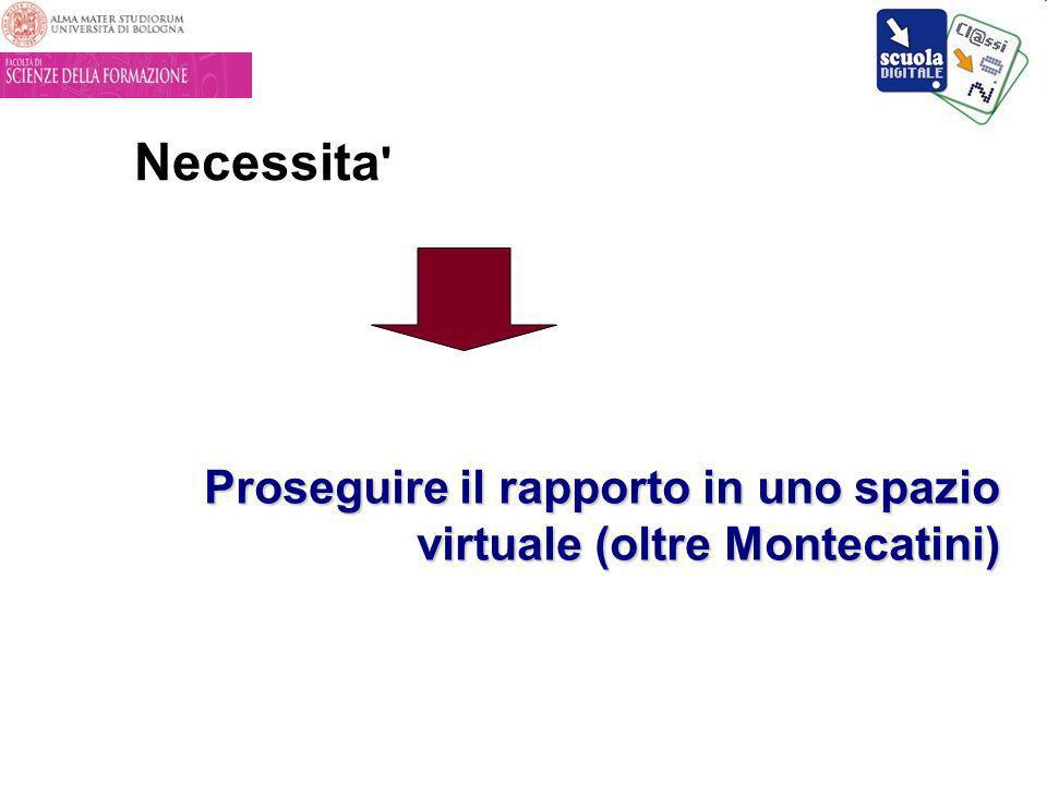 Necessita Proseguire il rapporto in uno spazio virtuale (oltre Montecatini)