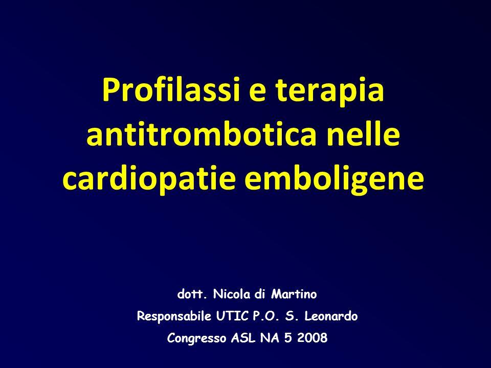 Profilassi e terapia antitrombotica nelle cardiopatie emboligene