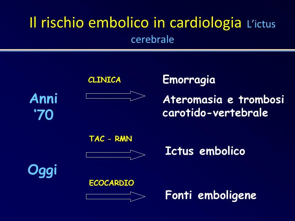 Il rischio embolico in cardiologia L'ictus cerebrale