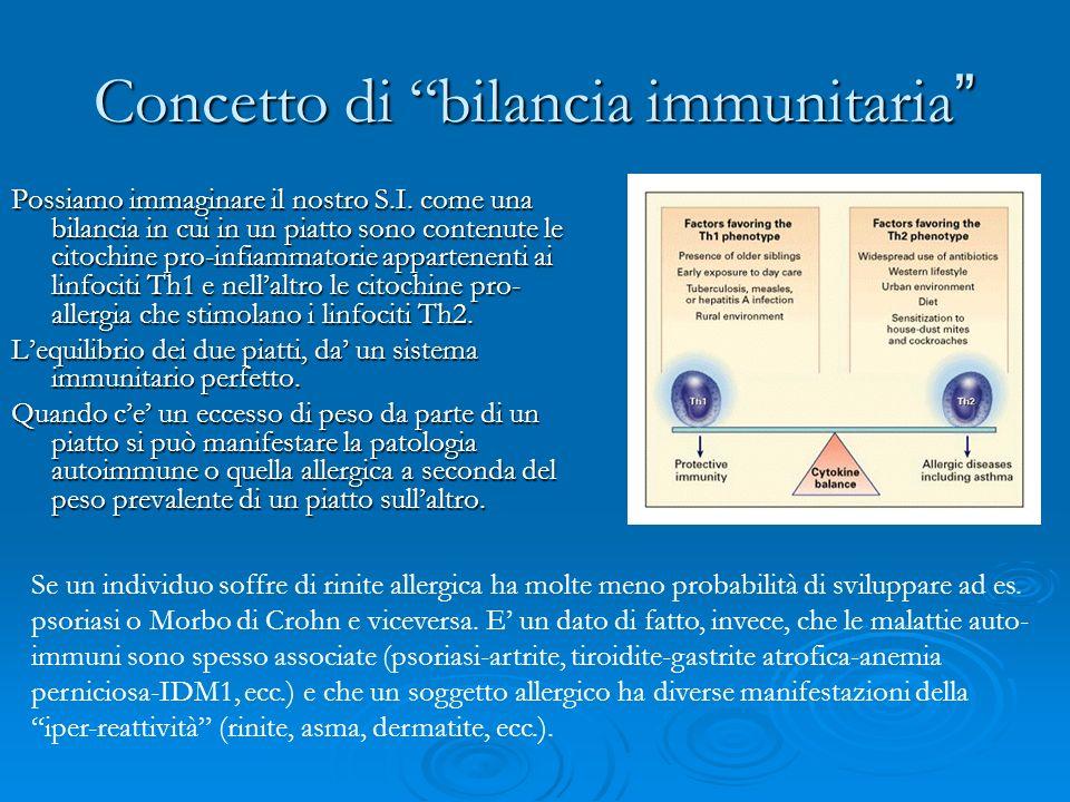 Concetto di bilancia immunitaria