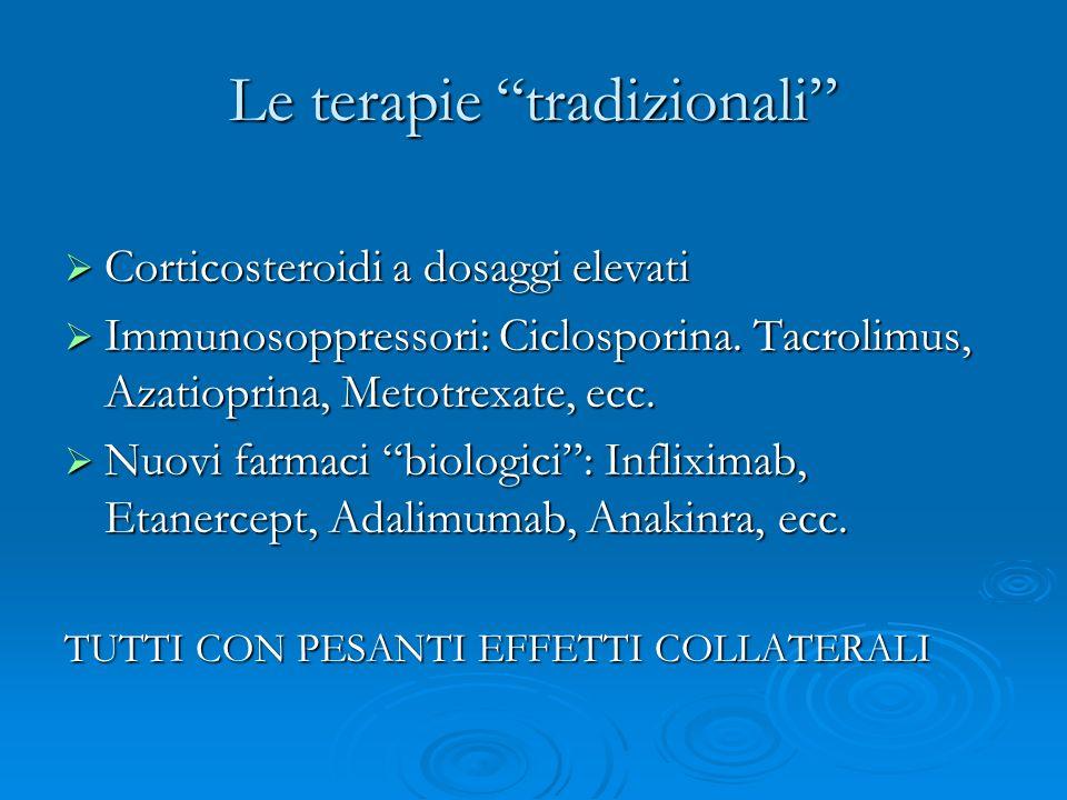 Le terapie tradizionali