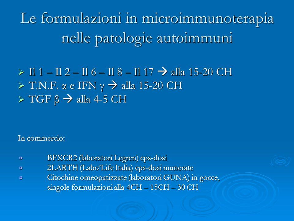 Le formulazioni in microimmunoterapia nelle patologie autoimmuni
