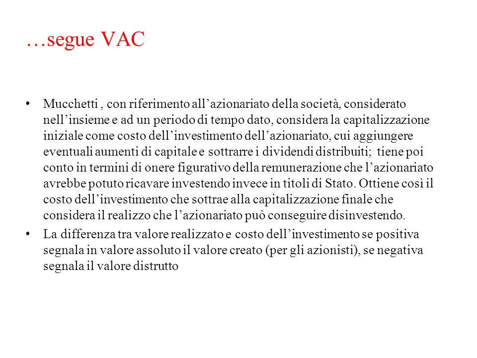 …segue VAC