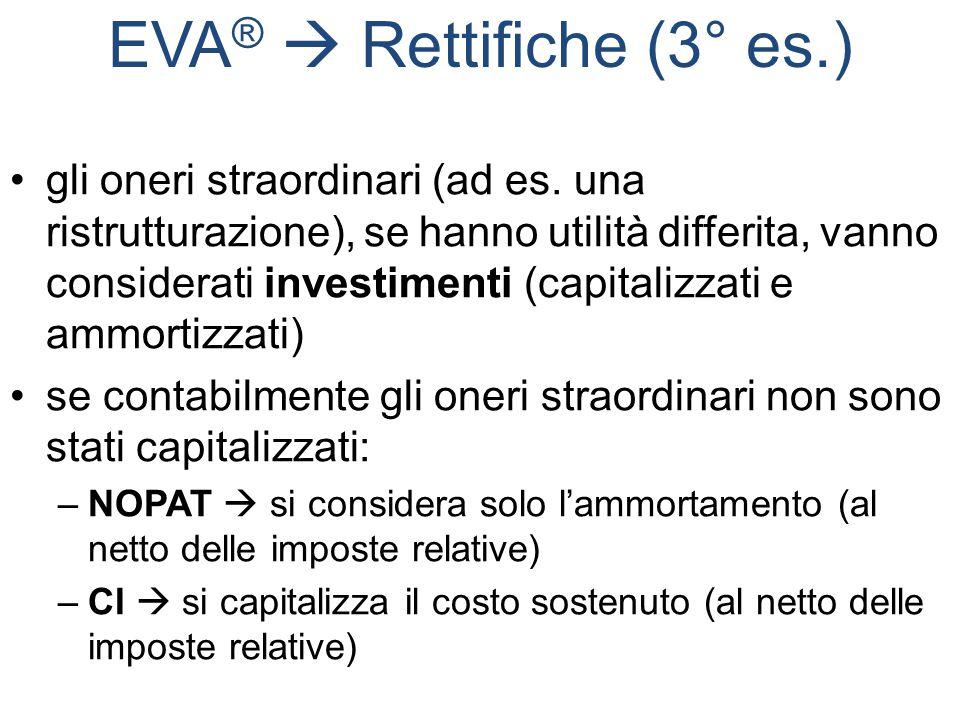EVA®  Rettifiche (3° es.)