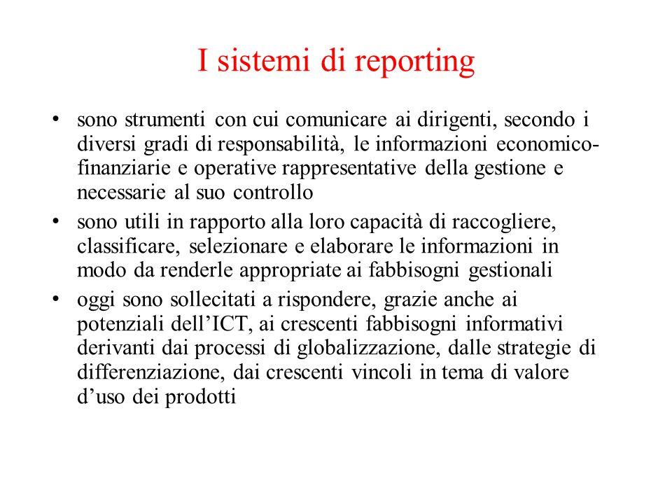 I sistemi di reporting
