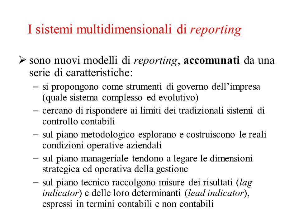 I sistemi multidimensionali di reporting