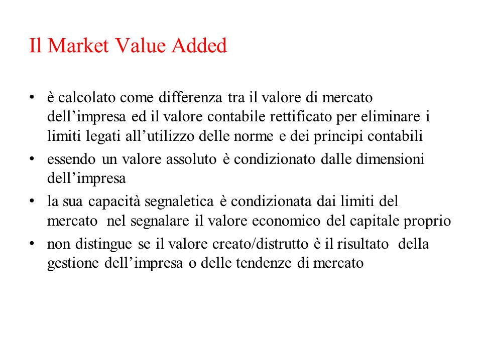 Il Market Value Added