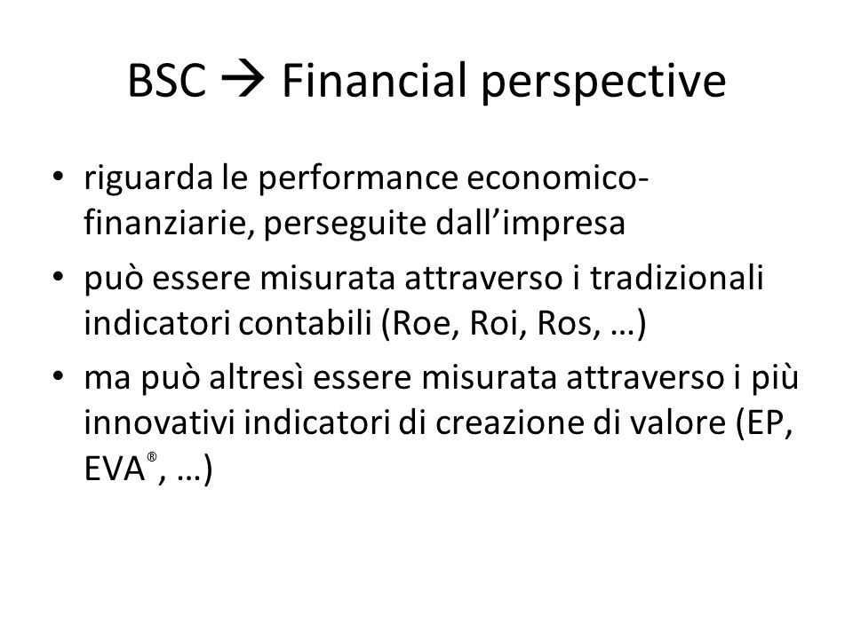 BSC  Financial perspective