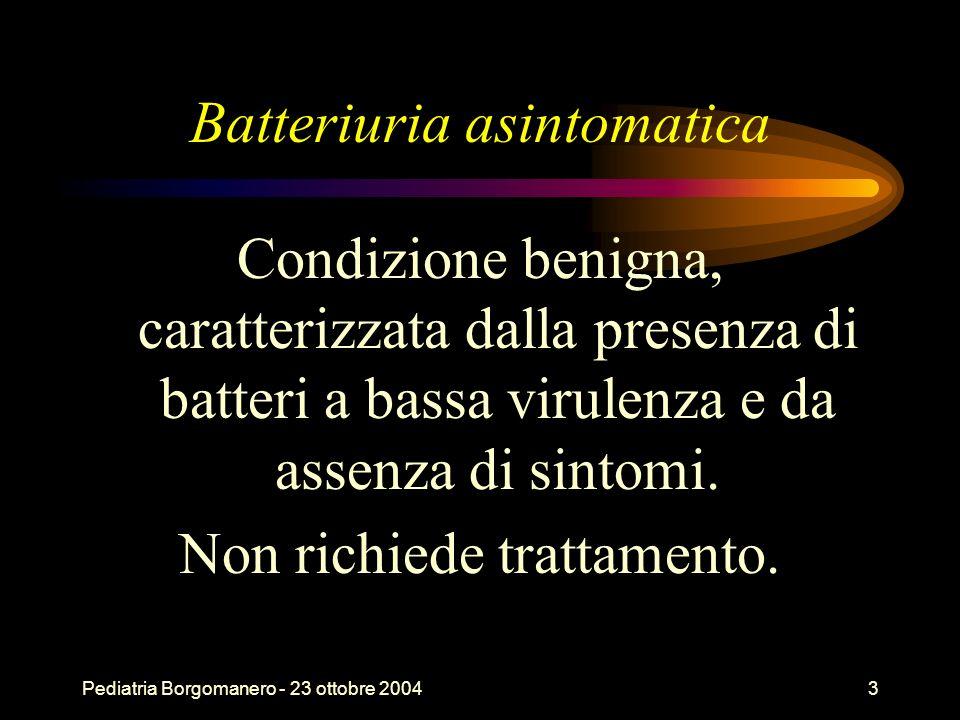 Batteriuria asintomatica