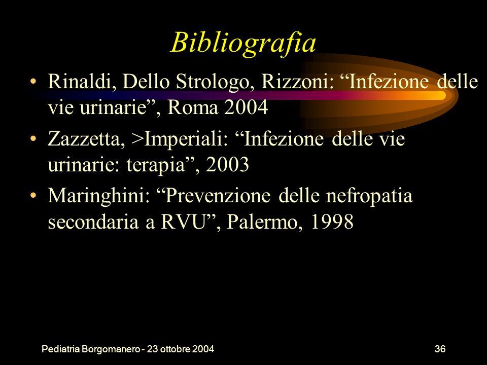 Bibliografia Rinaldi, Dello Strologo, Rizzoni: Infezione delle vie urinarie , Roma 2004.
