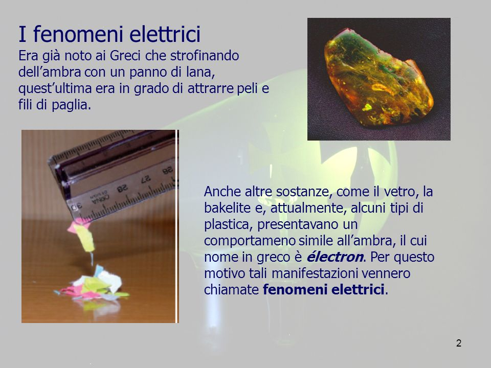 I fenomeni elettrici