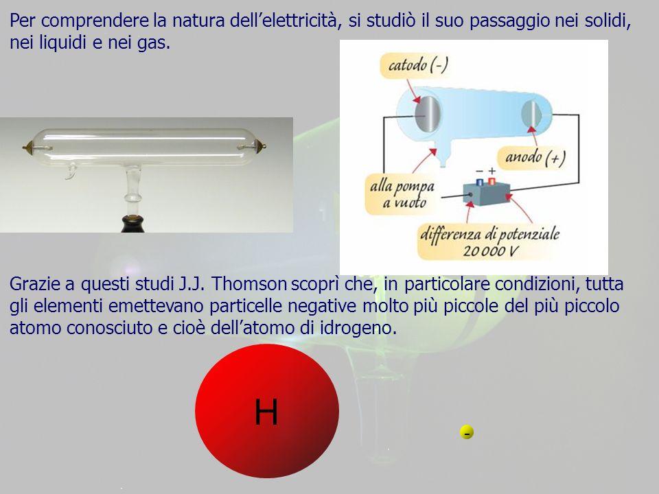Per comprendere la natura dell'elettricità, si studiò il suo passaggio nei solidi, nei liquidi e nei gas.