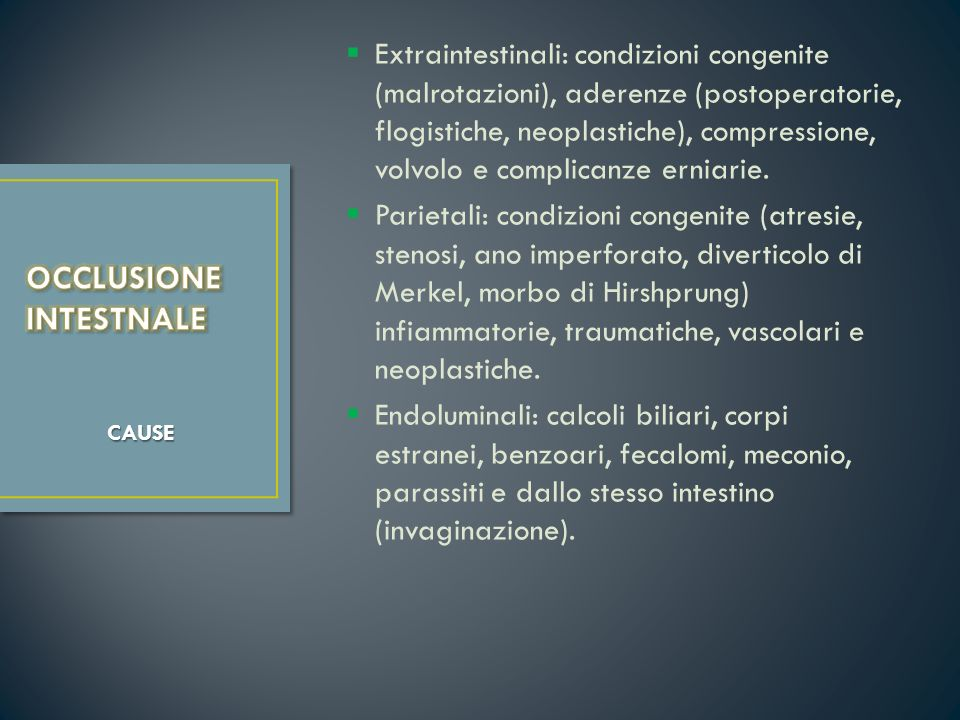 OCCLUSIONE INTESTNALE