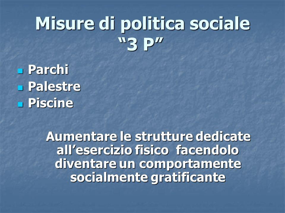 Misure di politica sociale 3 P