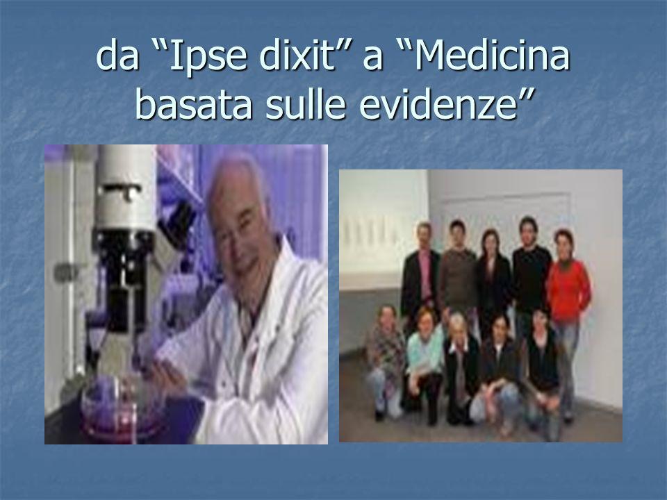 da Ipse dixit a Medicina basata sulle evidenze