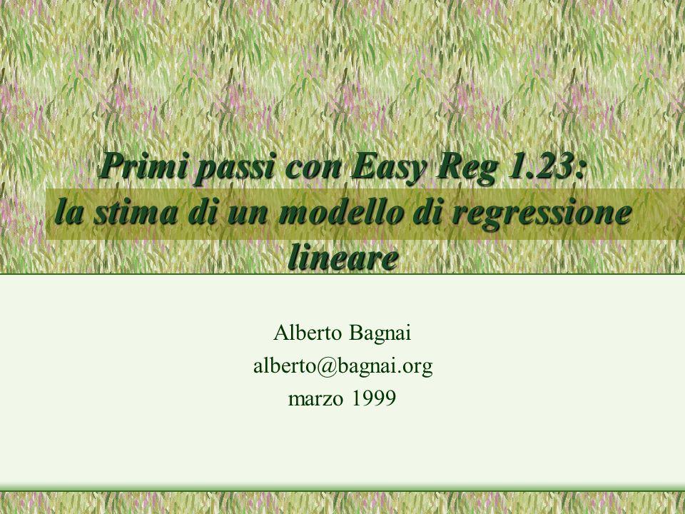 Alberto Bagnai alberto@bagnai.org marzo 1999