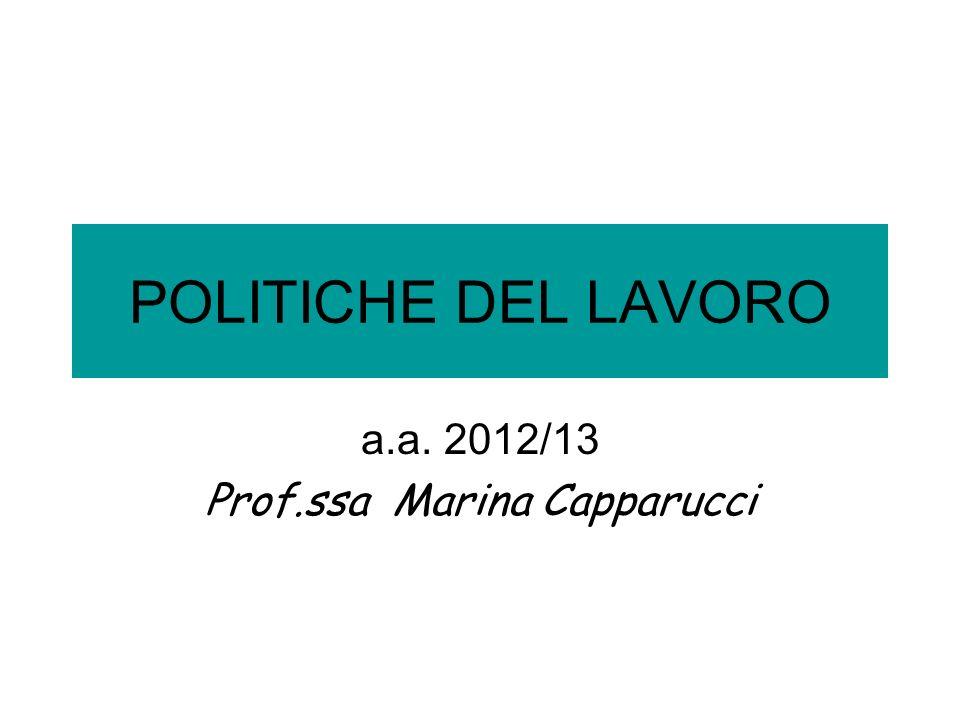 a.a. 2012/13 Prof.ssa Marina Capparucci