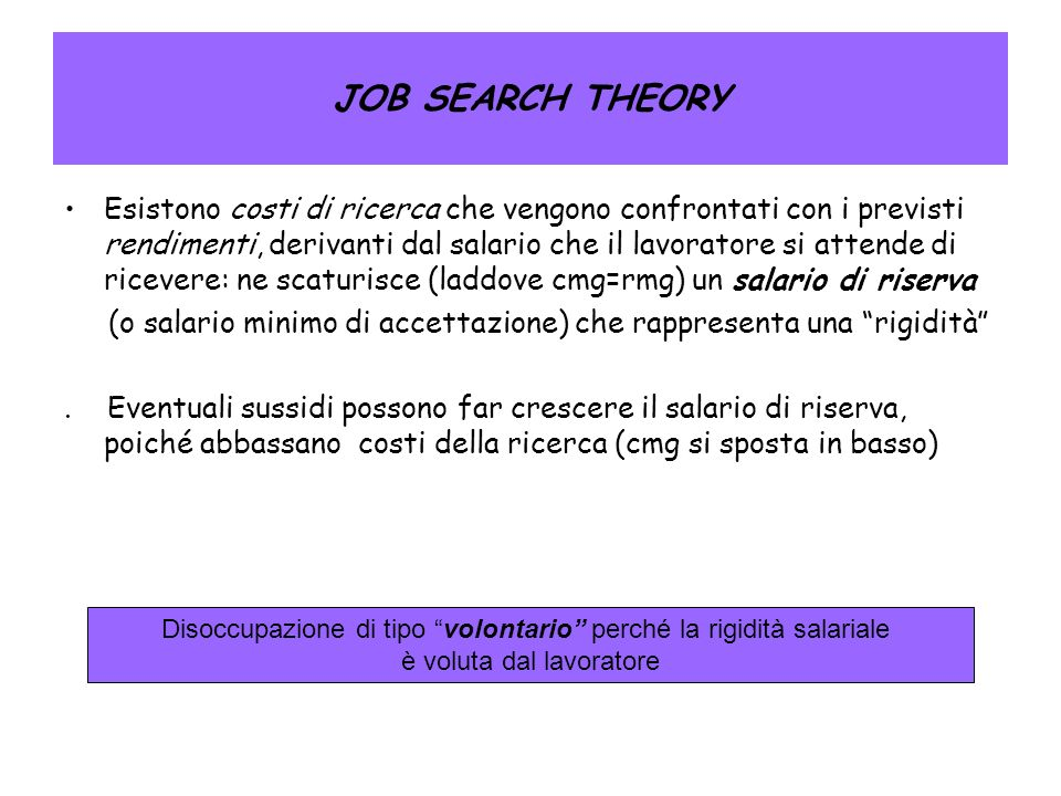 JOB SEARCH THEORY