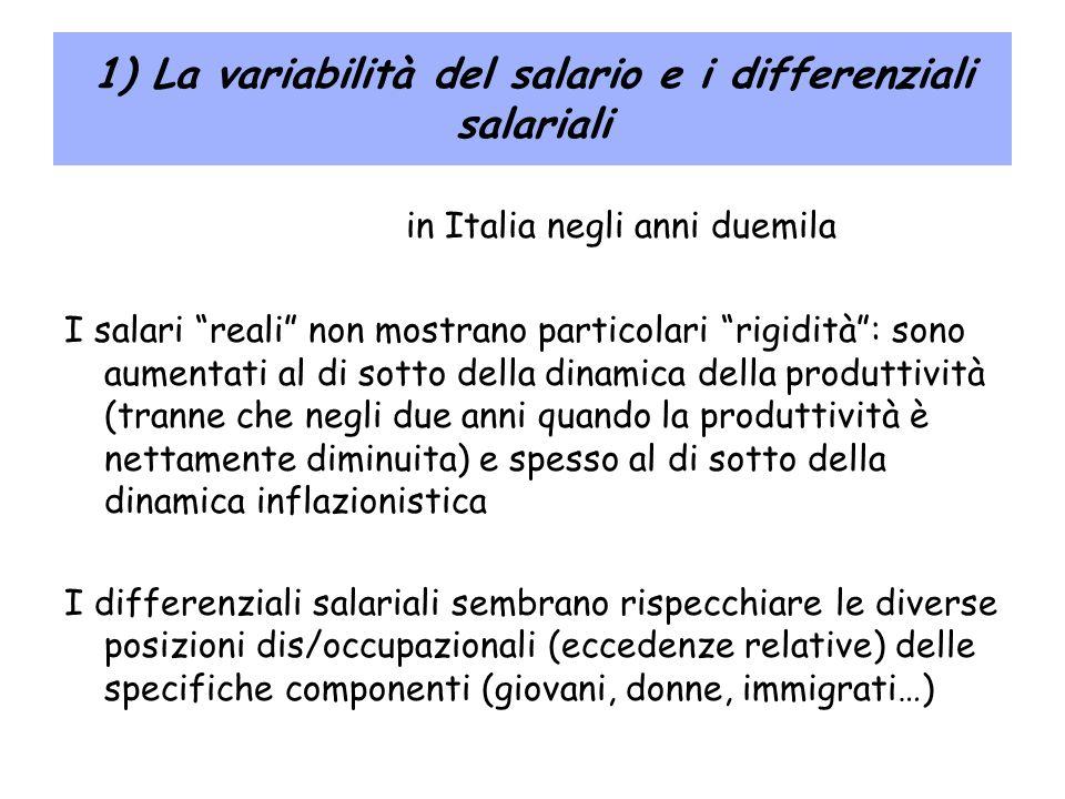1) La variabilità del salario e i differenziali salariali