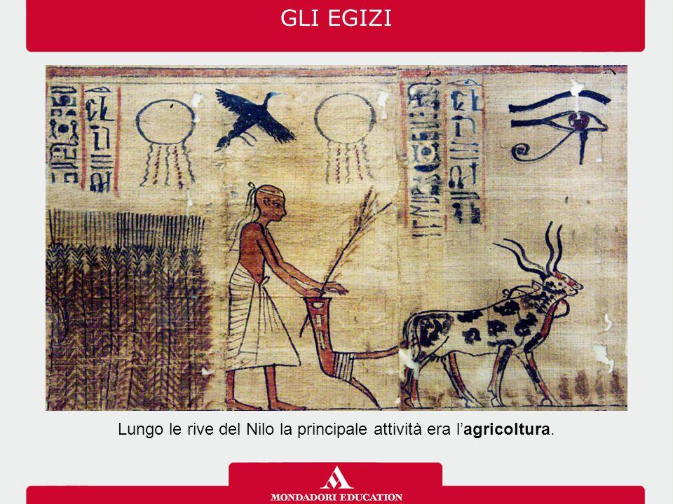 Lungo le rive del Nilo la principale attività era l'agricoltura.