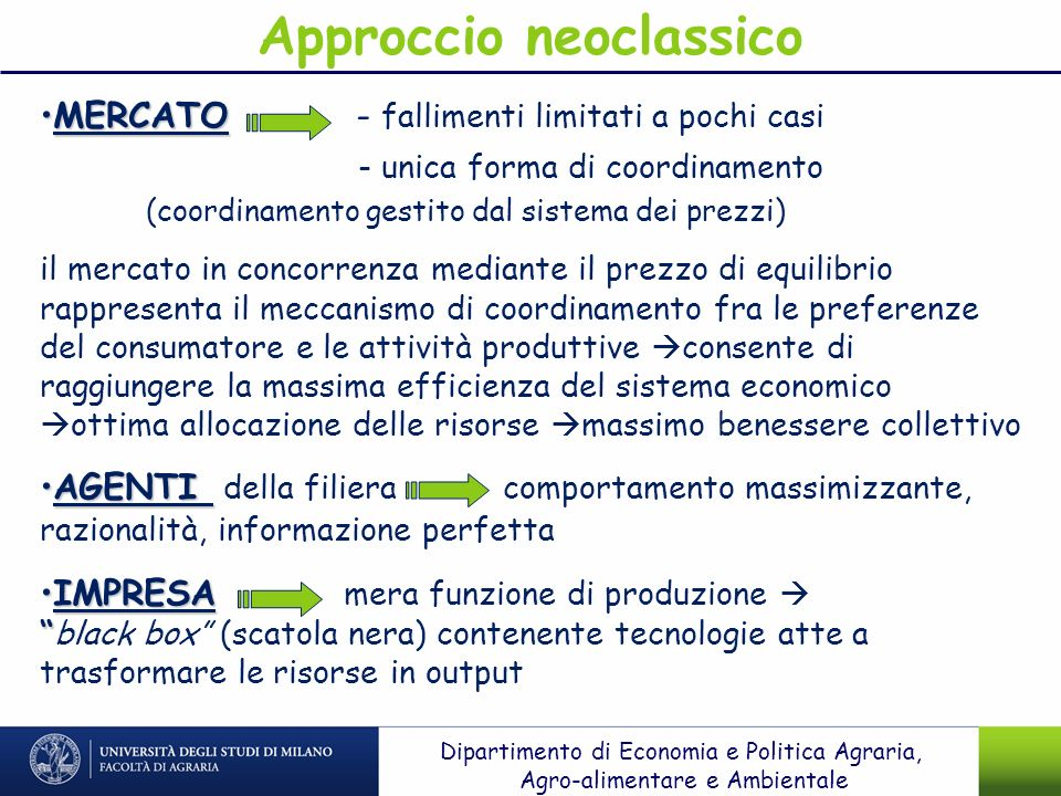 Approccio neoclassico