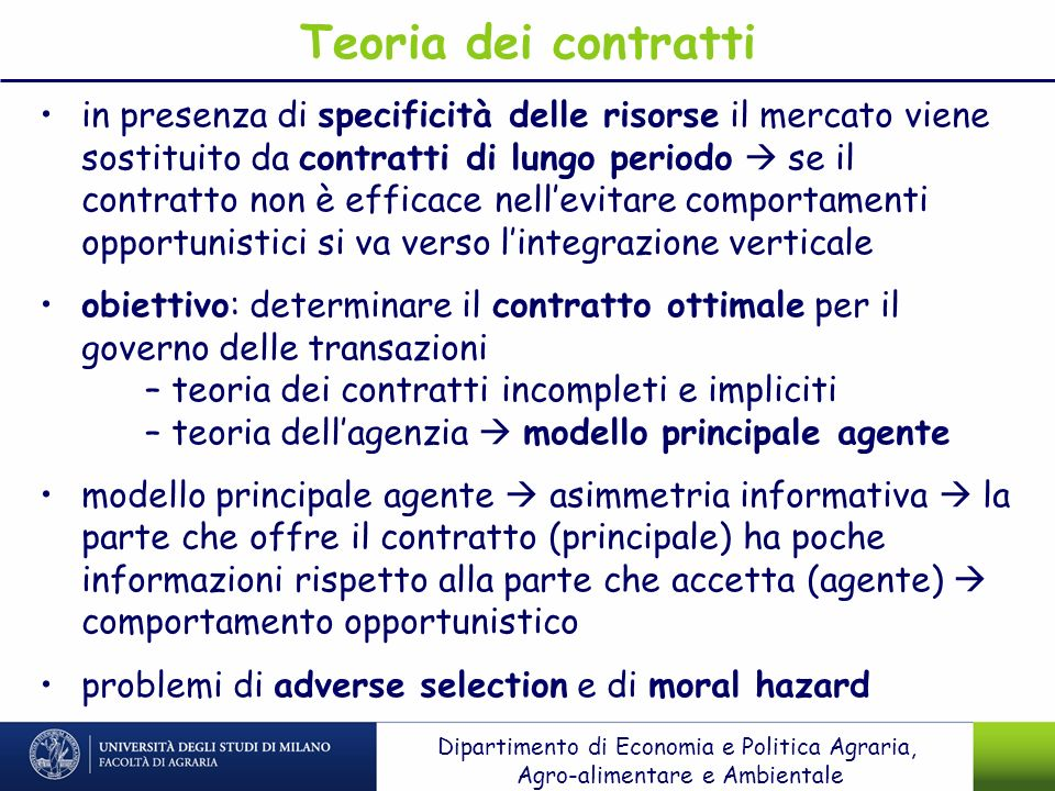 Teoria dei contratti