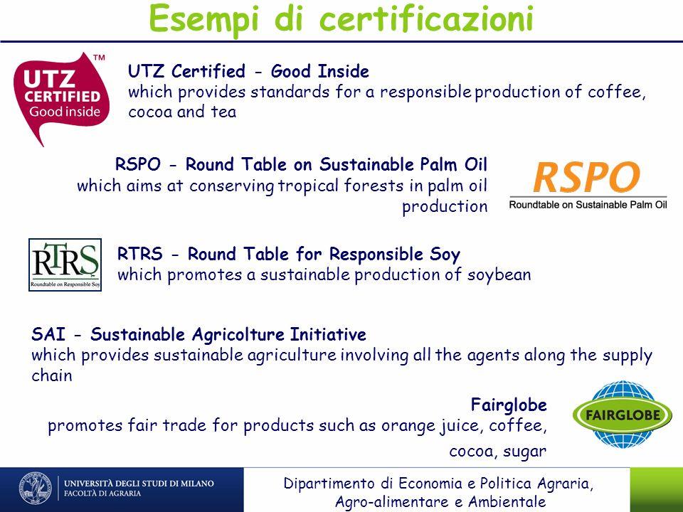 Esempi di certificazioni