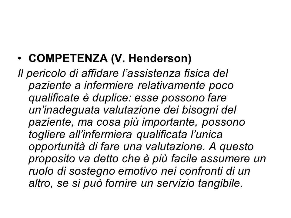 COMPETENZA (V. Henderson)