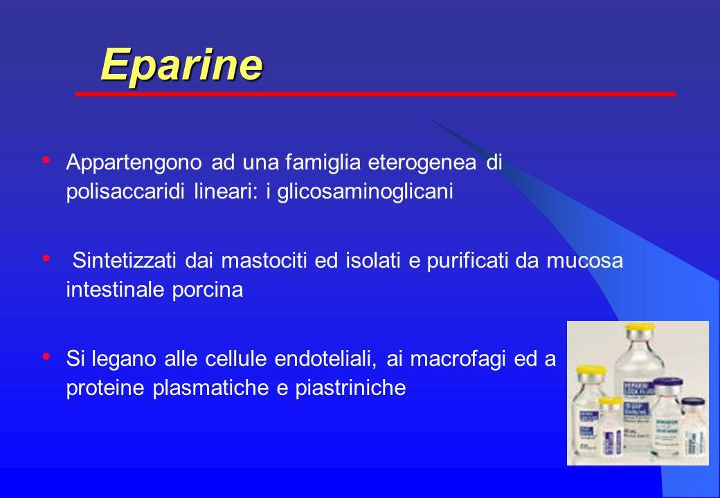Eparine Appartengono ad una famiglia eterogenea di polisaccaridi lineari: i glicosaminoglicani.