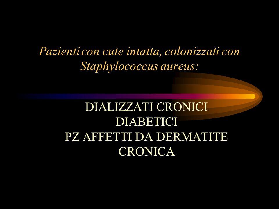 Pazienti con cute intatta, colonizzati con Staphylococcus aureus: