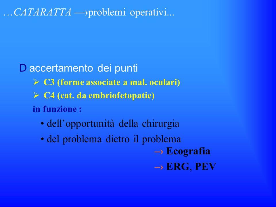 …CATARATTA —›problemi operativi...